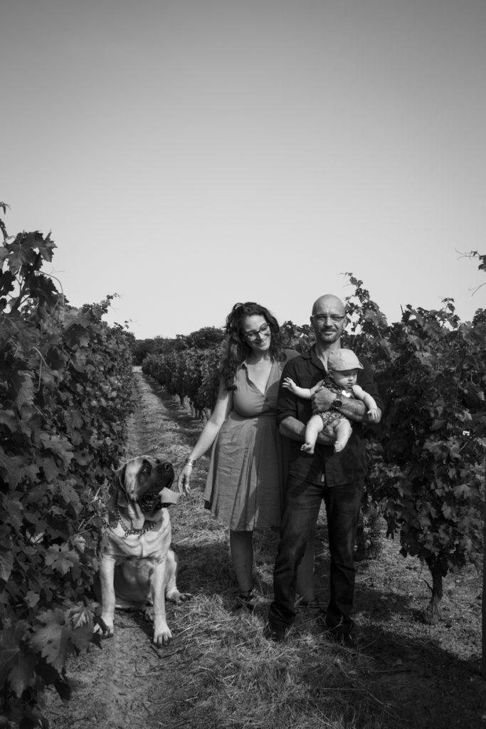 Photo de famille dans les vignes 2