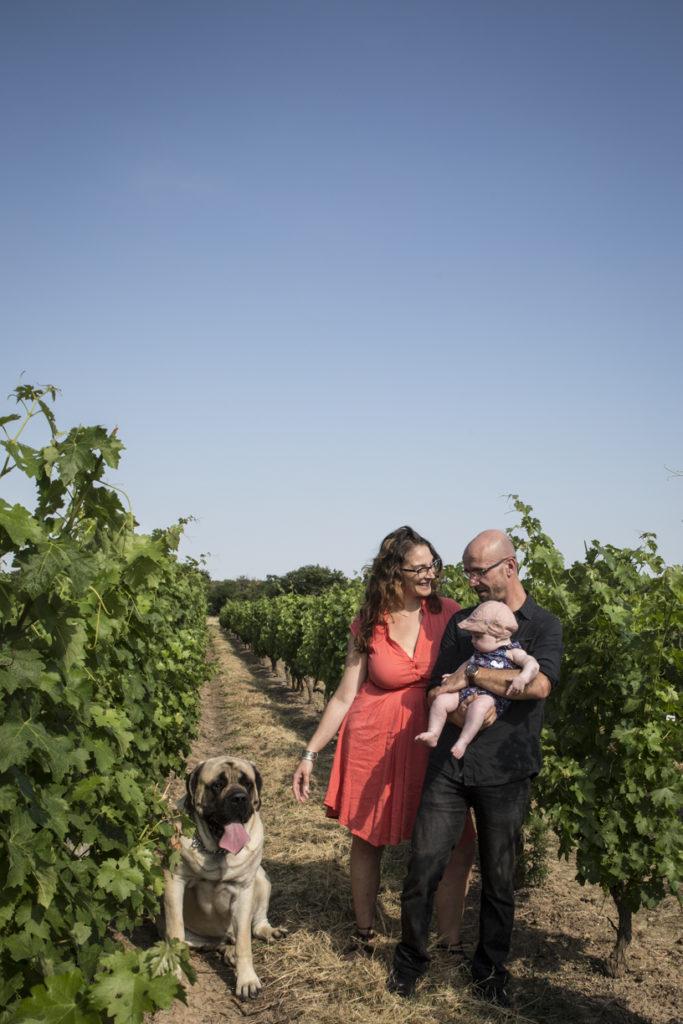 Photo de famille dans les vignes 3