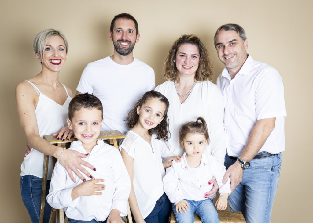 séance photo famille au studio 4