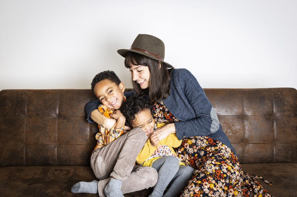 Séance photo mère enfants au studio – Chemillé-en-Anjou